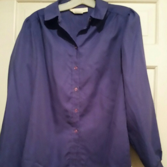 dcd88c51d Lady Arrow Tops | Purple Button Down Blouse Sz 12 | Poshmark